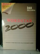 Vintage MicroPro WORDSTAR 2000 Plus Release 2 Word Processor on Floppy Disks