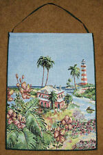 Lighthouse ~ Tropical Palm Tree Tapestry Bannerette Wall Hanging