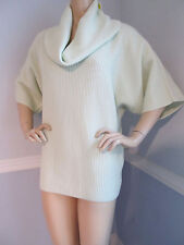 BRAND NEW ST JOHN KNIT M WOMENS CASHMERE SWEATER PULL OVER SCOOP NECK MINT GREEN