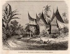 ILE SUMATRA ISLAND MAISON CHEF CHIEF HOUSE  INDONESIE INDONESIA IMAGE 1872 PRINT