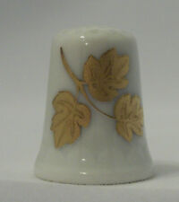Golden Leaves Porcelain Thimble Vohenstrauss West Germany