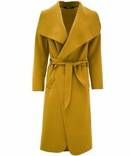 Women Ladies Italian Waterfall Long Sleeve Trench Coat Jacket Winter Outwear UK