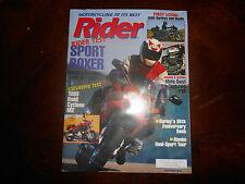 BMW Rider Rider Test 1999 R1100S R1100 Brochure 7 page