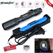 Con zoom 4000 Lumen 5 Modos CREE XML T6 Linterna LED Lámpara 18650 y cargador