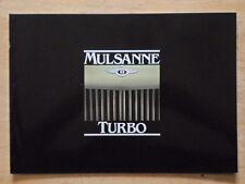 BENTLEY Mulsanne Turbo 1982 UK Market glossy prestige brochure