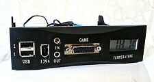Enermax USB Firewire Joystick Temp Audio 5.25 Media dashboard panel!! WORKING!