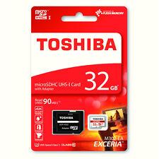 Toshiba Exceria 32GB MicroSD MicroSDHC Memory Card UHS-1 Class 10 90mb/s 4K TF