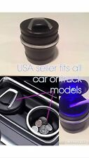 Universal Portable LED Ashtray Coin Storage 2in1 Can Fits All Car Models