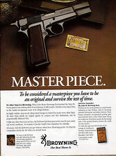 1991 BROWNING Masterpiece 9mm PISTOL Collectible Firearms Photo Advertising