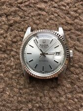 Bulova Super Seville Day Date Stainless Steel Swiss Made Men's Automatic Watch