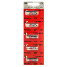 Toshiba A23 Battery 12Volt 23AE 21/23 GP23 23A 23GA MN21 12v 5 PACK