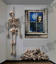 Giant SKELETON WALL Decor Clings with 3 designs Halloween