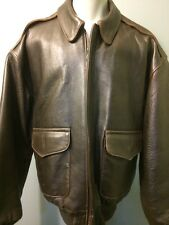 Vtg 40s Style A-2 Bomber Jacket Cockpit Leather WWII Pilots Flight Mens USA XL