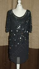 Brand New Phase Eight / 8 Teardrop sequin dress Size 14 16 Medium