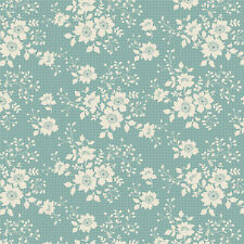 1 metre Tilda Fabric Cabbage Rose Libby Teal 100% Cotton Sale Price