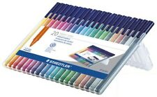 20 - STAEDTLER Triplus Fiber Tip Marker Pens  - 1.0mm - Assorted Ink - New