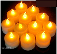 6 PCS LED Tea Lights Battery Operated Flickering Candles for Party Decoration UK