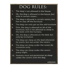 Dog Rules Wood Sign Dog Lover Gift - Rustic Country Primitive Collins