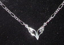 New 925 Sterling Silver Filled and Cubic Zirconia Fox Head Anklet Bracelet Combo