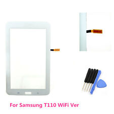 Touch Screen Digitizer Glass Lens For Samsung Galaxy 3  7.0 T110 WiFi White & Ts