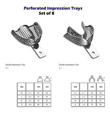 Perforated Impression tray set of 8 cubetas de impresion dental metal edentu CE
