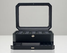 WOLF 4586029 Windsor 10 Piece Watch Box With Drawer Black NEW