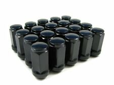 20 of 14x1.5 Black Wheel Nuts (Normal Acorn) Holden Commodore VE VF Chrysler