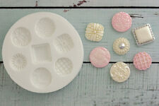 Silicone Mould Vintage Brooch Buttons Decorative Food Safe Ellam Sugarcraft M08