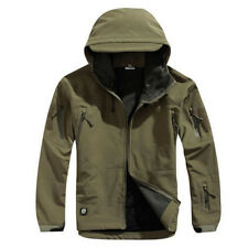 Mens Soft Shell Water Resistant Breathable Outdoor Climbing Military Jacket Coat