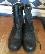 "USGI Military 10"" High COMBAT JUMP BOOTS Steel Toe FULL LEATHER Black 10C"