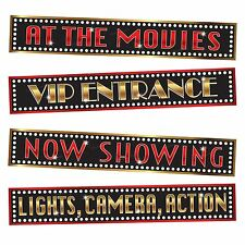 At The Movies Street Signs Party Decorations Oscar Wall VIP Awards Hollywood BN
