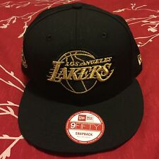 Kobe Bryant Retirement Hat New Era Snapback Los Angeles Lakers Black/Gold HTF