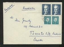 BRD 302, 309, jeweils Paar auf Brief nach Toronto, Kanada #m851