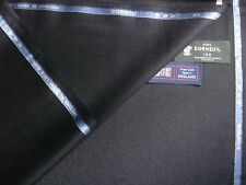 88%SUPER 120's WOOL+8% MOHAIR+4%CASHMERE FLANNEL SUITING FABRIC BY Dormeuil-3.4m