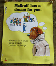 Very Rare McGruff Dream 1992 Take a Bite Out of Crime Vintage Anti Drug Poster