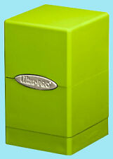 ULTRA PRO SATIN TOWER LIME GREEN DECK BOX New Card Dice Compartment Storage MTG
