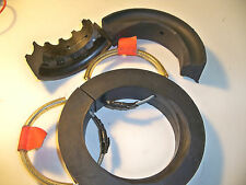 "(3) assorted front conventional coil spring rubbers w/ cables 5""-5 3/4"" OD"