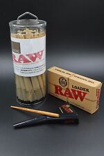 RAW Classic King Size Pre-Rolled Cones With Filter (50 Pack and Cone Loader)