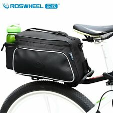 Roswheel Cycling Bicycle Bike Rear Rack Seat Bag Pack Pouch Case Pannier Black
