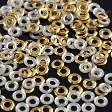 200X Fashion 3D Gold Nail Art Circle Metallic Studs Stickers Decoration DIY