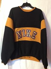 Vintage Nike Sweatshirt With Sewn Block Lettering • XL • 90's Hip Hop Spike Lee