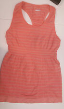 Lululemon Size 4 Beat the Heat Tech Tank VGUC coral orange silver swiftly yoga