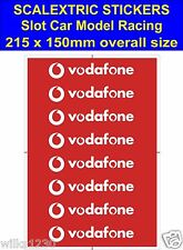 Scalextric Slot car stickers Model Race Vodafone R Logo Lego self adhesive vinyl