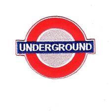 Embroidered Patch Iron Sew Logo Emblem Custom UNDERGROUND london UK subway