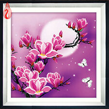 YGS-39 Round Diamond Painting Cross Stitch Stickers Magnolia flowers