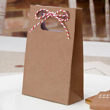 10 FAVOUR BAGS Wedding Brown VINTAGE  RETRO Sweets Gifts JUST MY TYPE