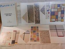 Lotto di 12 cartoline quadri MONDRIAN Stampa Alternativa 1988 custodia guida da