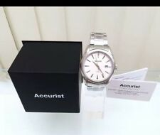 New Accurist Men's Watch Stainless Steel Japan Movement Easy to Read,Great Gift