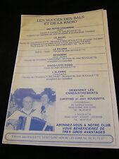 Partition Les succès des bals et de la Radio Bouquette Music Sheet