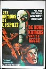 R625 DEMONS OF THE MIND Belgian movie poster,  '72 Hammer horror, spooky face